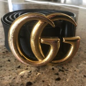Gucci Accessories - Gucci Leather Belt with Double G Buckle - Size 105